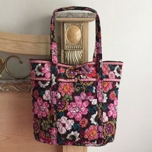 Pink and Brown Floral Vera Bradley Tote